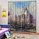 billige Bordlamper-3d digital utskrift europeisk personvern to paneler tilpasset polyester gardin for jenter rom stue dekorative støvtette vanntett høy kvalitet gardiner
