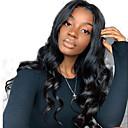 זול פיאות תחרה משיער אנושי-שיער אנושי חזית תחרה פאה חלק חינם בסגנון שיער ברזיאלי גלי Body Wave שחור פאה 130% צפיפות שיער עם שיער בייבי שיער טבעי לנשים שחורות בתולה100% 100% קשירה ידנית בגדי ריקוד נשים ארוך