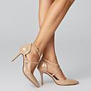 povoljno Cipele za latino plesove-Žene Sandale Stiletto potpetica Krakova Toe Kopča Umjetna koža Udobne cipele Proljeće / Ljeto / Jesen Bijela / Pink / Nude