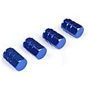 זול צמידי גברים-4pcs כחול סגסוגת אלומיניום רכב צמיג גלגל שווי מכסה שסתום יפים חותם אבק הוכחה אוויר שסתומים