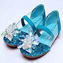 hesapli Çocuk Ayakkabıları-Genç Kız Sentetikler Düz Ayakkabılar Küçük Çocuklar (4-7ys) / Büyük Çocuklar (7 yaş +) Rahat / Çiçekçi Kız Ayakkabıları Kristal Gümüş / Mavi / Pembe Bahar / Sonbahar
