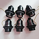 Недорогие Инструменты для чистки транспортных средств-6шт E26 / E27 Аксессуары для ламп Пластиковые & Металл Разъем для лампочки