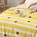 halpa Peitteet ja koristetyynyt-Monitoimiset peitot, Raidoitettu Flanelli Fleece Pehmeä peitot