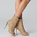 hesapli Kadın Sandaletleri-Kadın's Sandaletler Stiletto Topuk Açık Uçlu Taşlı / Bağcıklı Kırpma Gladyatör Yaz Altın / Gümüş / Düğün / Parti ve Gece / Parti ve Gece