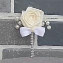 Недорогие Свадебные цветы-Свадебные цветы Бутоньерки Свадьба / Свадебные прием Шёлковая ткань рипсового переплетения / стекло 0-10 cm