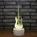 olcso 3D éjszakai világítás-gitár szökőkút könnyű éjszaka hét szín érintő lámpa 3d vizuális kreatív kis ajándék 3d lámpatestek egész