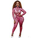 זול אקזוטי Dancewear-אקזוטי Dancewear סרבלים בגדי ריקוד נשים הצגה ספנדקס דוגמא \ הדפס שרוול ארוך / סרבל תינוקותבגד גוף