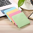 hesapli Office Basics-2 paketleri 100 yaprak / paket evrensel yapışkan yapışkan notlar şeker renk kare 7.5 * 7.5 cm yapışkan notlar post-it notu mavi yeşil pembe