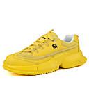 hesapli Erkek Atletik Ayakkabıları-Erkek Ayakkabı Elastik Kumaş İlkbahar yaz Sportif Atletik Ayakkabılar Günlük için Turuncu / Sarı / Yeşil