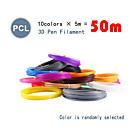 halpa 3D-tulostuskynät-myriwell pcl 1,75mm filamentti 10 väriä 5m satunnainen väri valittu 3d painettu pcl 1,75mm 3d kynä muovi 3d tulostin pcl filamentti 3d kynät abs ympäristön turvallisuus