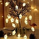 זול כלים לאפייה-3m 20 led halloween skull skrämmande ljus skelett batteridrivna drivs för generiska halloween party hem bar dekorationer