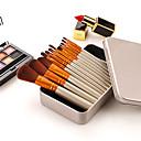 halpa meikit harjalla sarjat-ammattilainen Makeup Harjat 12kpl Ammattilais Pehmeä Täysi kattavuus Mukava Puinen / bambu varten Makeup Set Eyeshadow Kit Meikkausvälineet Vika-työkalut Poskipunasivellin Alusvoidesivellin