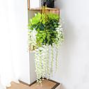 hesapli Yapay Bitkiler-Yapay çiçek 1 adet şube modern çağdaş ebedi çiçek duvar çiçek simülasyon wisteria çiçek fabrika doğrudan fasulye çiçek duvar asılı düğün kemer dekorasyo ...