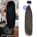 זול תוספות משיער אנושי-3 חבילות שיער ברזיאלי ישר שיער אדםלא מעוב 100% רמי שיער לארוג חבילות טווה שיער אדם הארכה שיער Bundle 8-28 אִינְטשׁ טבעי שוזרת שיער אנושי וולנטיין מתנה סקסי ליידי תוספות שיער אדם