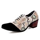 hesapli Erkek Oxfordları-Erkek Ayakkabı Tüylü Bahar / Sonbahar İş / İngiliz Oxford Modeli Yürüyüş Düğün / Parti ve Gece için Beyaz / Kırmzı / Kahverengi