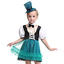 halpa Aikuisten asut-Prinsessa Asut Lasten Tyttöjen Halloween Halloween Festivaali / loma Spandex Polyester / Polyamide Musta Karnevaalipuvut