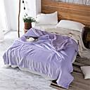 billige Tæpper ogplaider-Seng tæpper, Ensfarvet / Simpel polyester Blød comfy dyner
