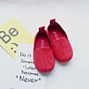 זול Kids' Flats-בנות מוקסין PU נעליים ללא שרוכים ילדים קטנים (4-7) צהוב / אדום / ירוק קיץ
