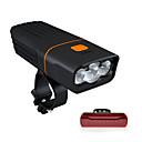 povoljno Svjetla za bicikle-LED Svjetla za bicikle Prednje svjetlo za bicikl LED Biciklizam Vodootporno Okretljive slavine Prijenosno Litij-ionska Baterija 2400 lm Baterija operiran Rechargeable Power 18650 Bijela Kampiranje
