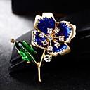 povoljno Moderni broševi-Muškarci Žene Broševi Cvijet Stilski slatko Broš Jewelry Crvena Dark Blue Za Dnevno