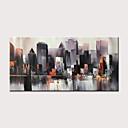 halpa Abstraktit maalaukset-Hang-Painted öljymaalaus Maalattu - Abstrakti Maisema Moderni Ilman Inner Frame