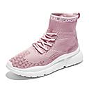 povoljno Ženske čizme-Žene Sneakers Ravna potpetica Okrugli Toe Mrežica Ležerne prilike / minimalizam Proljeće & Jesen Crn / Pink / Bež