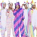 povoljno Kigurumi plišane pidžame-Odrasli Kigurumi plišana pidžama Unicorn Leteći konj Poni Onesie pidžama Fabrik Flannel Crna / Bijela / Obala / Bijela Cosplay Za Muškarci i žene Zivotinja Odjeća Za Apavanje Crtani film Festival