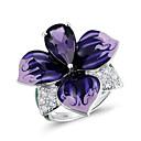 povoljno Modno prstenje-Žene Prsten 1pc purpurna boja Imitacija dijamanta Legura Nepravilan Korejski Moda Slatka Style Dnevno Jewelry Cvijet