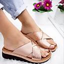 povoljno Ženske klompe i klompe na petu-Žene Sandale Ravna potpetica Okrugli Toe Mikrovlakana Ljeto Crn / Obala / purpurna boja