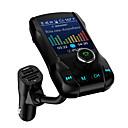 זול משדר FM לרכב/MP3 לרכב-1.77 מסך צבעוני משדר fm משדר אלחוטי לרכב דיבורית Bluetooth 360 לרכב מסתובב mp3