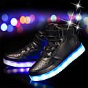זול LED Shoes-בנים נוחות / נעליים זוהרות עור / PU נעלי ספורט ילדים קטנים (4-7) / ילדים גדולים (7 שנים +) אדום / ורוד / כסף אביב / גומי
