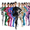 povoljno Dječji monitori-Zentai odijela Catsuit Odijelo za kožu Ninja Odrasli Spandex Lateks Cosplay Nošnje Spol Žene Zlatan / purpurna boja / Pink Jednobojni Halloween / Visoka elastičnost