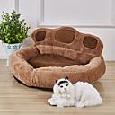 זול מיטות כלבים & שמיכות-כלבים ארנבים חתולים משטח למזרן מיטות שמיכות מיטה משטחים בד בד פלסטיק קטיפה קולור בלוק חאקי