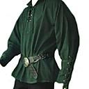 billige Historiske kostymer og vintagekosty,re-Kostymer i middelalderstil Renessanse Maskerade Herre Kostume Svart / Grønn / Vin Vintage Cosplay Fest