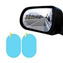 """זול רכב הגוף קישוט והגנה-2 יחידות חלון צד מכונית סרט מגן אנטי ערפל מדבקת מכונית קרום אנטי בוהק עמיד למים סגלגל 100 * 150 מ""""מ"""
