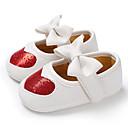 זול Kids' Flats-בנות צעדים ראשונים PU שטוחות תינוקות (0-9m) / פעוט (9m-4ys) כסף / אדום / ורוד אביב / קיץ