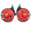 povoljno Dijelovi za motocikle i ATV-par električni 12v glasan zvuk dvostruka melodija puževa sirena univerzalni za automobil automobil automobil motocikl akumulator