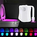 halpa Koristevalot-loende smart motion sensor wc-istuimen yövalo 8 väriä vedenpitävä taustavalo wc-kulhoon johtama luminaria-lamppu wc wc-valo