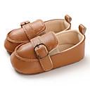 זול מוקסינים לילדים-בנים / בנות צעדים ראשונים PU נעליים ללא שרוכים תינוקות (0-9m) / פעוט (9m-4ys) חום / לבן / שחור אביב / קיץ