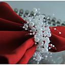 זול טבעת מפית-קלסי פלסטי Arylic עגול טבעת מפית אחיד פרח לוח קישוטים 12 pcs