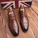 halpa Miesten Oxford-kengät-Unisex Muodolliset kengät Nahka Kevät kesä / Syystalvi Englantilainen Oxford-kengät Non-liukastumisen Musta / Ruskea