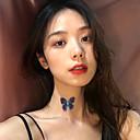 halpa Kehokorut-Naisten Choker-kaulakorut Kaulakoru Transparent Butterfly muodikas Korea Makea Muoti Kangas Kromi Purppura 30 cm Kaulakorut Korut 1kpl Käyttötarkoitus Päivittäin Pyhäpäivä Työ Klubi Festivaali