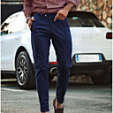 povoljno Muške duge i kratke hlače-Muškarci Osnovni Chinos Hlače - Jednobojni Navy Plava US38 / UK38 / EU46 US40 / UK40 / EU48 US42 / UK42 / EU50