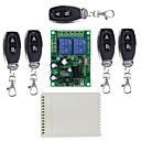 Недорогие Смарт-часы-интеллектуальный коммутатор ak-rx220-2c + ak-j027 (5 шт.) для повседневной / гостиной / спальни с дистанционным управлением / многофункциональный / простой в установке дистанционный беспроводной 220 В