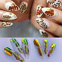 voordelige Nagelfoliepapier-16 stks / set nagel de vlam sticker hot stijl laser iriserende nagel stok met 16 kleur een tandvlees