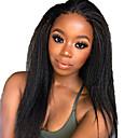 povoljno Perike s ljudskom kosom-Ljudska kosa Lace Front Perika Slobodni dio stil Brazilska kosa Kinky Ravno Yaki Straight Crna Perika 130% Gustoća kose s dječjom kosom Prirodna linija za kosu Za crnkinje 100% Djevica 100% rađeno
