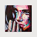 povoljno Slike ljudi-Hang oslikana uljanim bojama Ručno oslikana - Ljudi Moderna Bez unutrašnje Frame