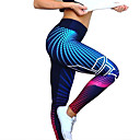 זול ביגוד כושר, ריצה ויוגה-בגדי ריקוד נשים מותניים גבוהים מכנסי יוגה הדפס דיגיטלי 3D שחור אפור כהה אפור בהיר אדום /  לבן אפור ספנדקס ריצה כושר וספורט כושר אמון טייץ רכיבה על אופניים חותלות ספורט לבוש אקטיבי / גמישות גבוהה