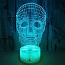 olcso 3D éjszakai világítás-1db 3D éjszakai fény USB Gyermekeknek / Kreatív / Születésnap 5 V