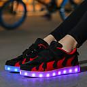 זול LED Shoes-בנות נעליים זוהרות סינטטיים נעלי ספורט ילדים קטנים (4-7) / ילדים גדולים (7 שנים +) הליכה LED שחור / אדום / ורוד סתיו / חורף / קולור בלוק / גומי